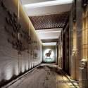 Modern Style Hotel Corridor Decoration Interior Scene