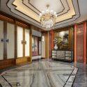 Asian Luxury Classic Villa Hall Space Interior Scene