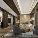 Luxury Hotel Reception Room Interior Scene
