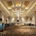 Luxury European Classical Conference Room Interior Scene