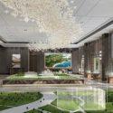 Big Showroom Of Real Estate Interior Scene