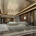 Modern Design Real Estate Office Interior Scene