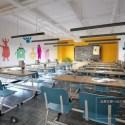 Modern Kid Classroom Interior Scene