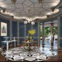 Villa Classic Reception Room Interior Scene
