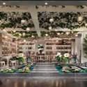 الأخضر تصميم المشهد صالة فيلا مساحة الداخلية