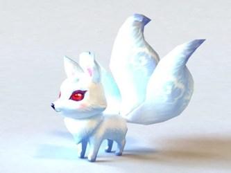 Anime White Fox Free 3d Model Max Vray Open3dModel 129901