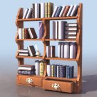 Chippendale Wooden Book Shelf