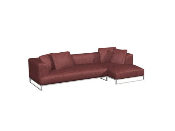 Brilliant Fashion Cloth Sectional Sofa Free 3Ds Max Model Max Machost Co Dining Chair Design Ideas Machostcouk
