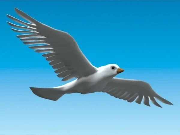 Flying Dove Bird Free 3d Model -  Obj - Open3dModel 120260