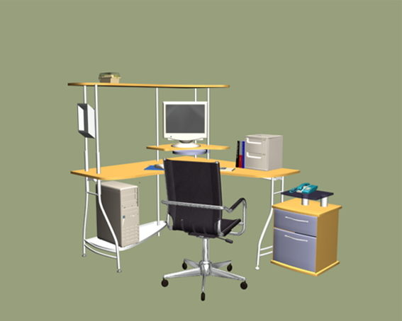 L-shaped Office Computer Workstation