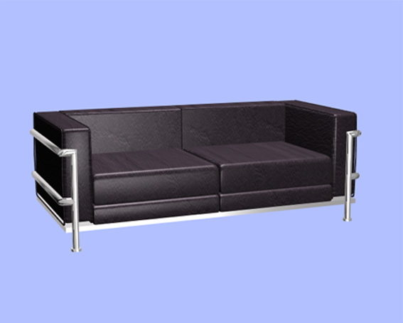 Leather Office Sofa Free 3ds Max Model - .Max, .Vray ...