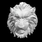 Lion Head Relief Sculpture
