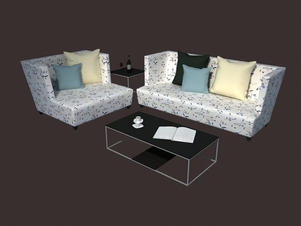 Elegant Design Living Room Sofa Sets Free 3ds Max Model