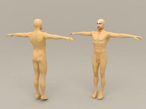 Naked Man Body