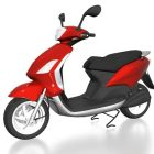 Red And Black Moped