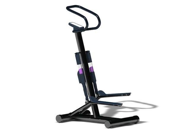 Máquina de ejercicios de gimnasio paso a paso