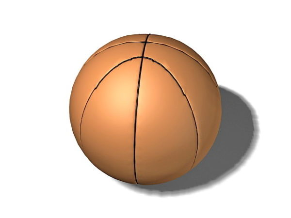 Pelota de baloncesto marrón