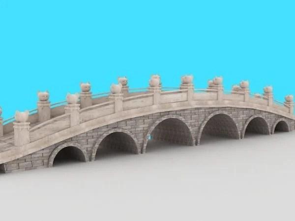 Puente chino del antiguo jardín