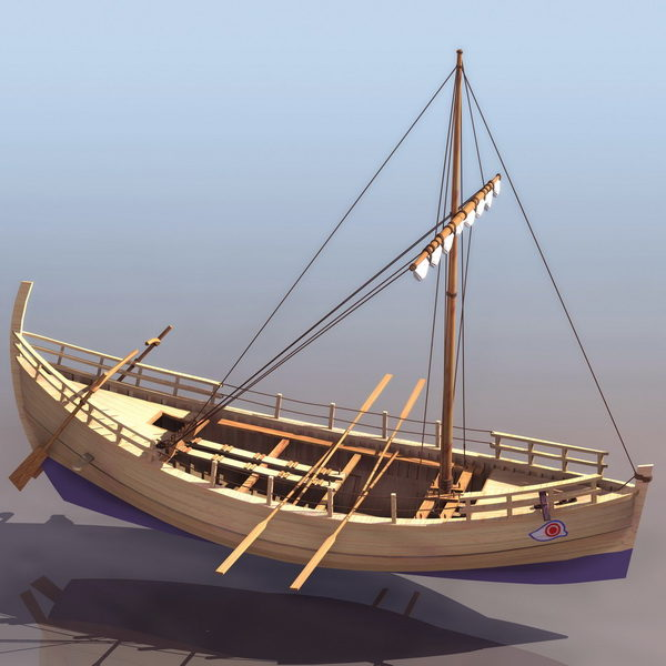 Greek Trading Vessel Merchant Boat