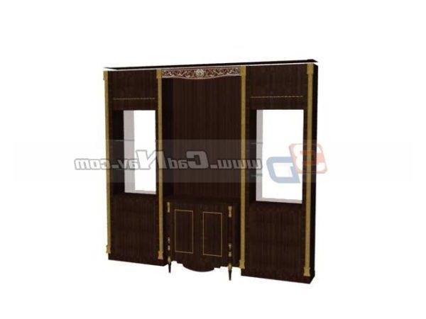 Muebles antiguos de gabinete de almacenamiento de madera