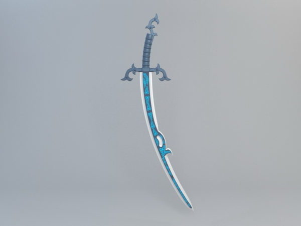 Blue Blade With Decoration