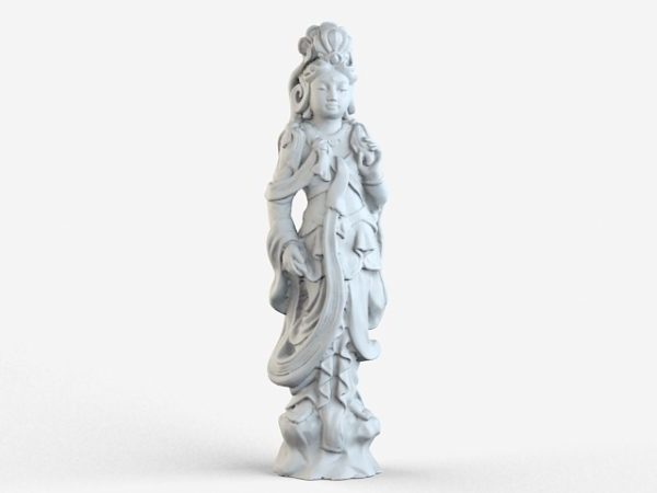 Estatua de la diosa budista asiática