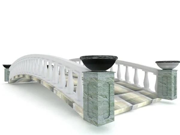Puente de piedra del jardín asiático