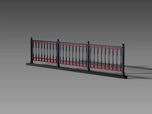 Metal Road Fence