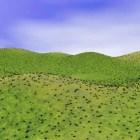 المناظر الطبيعية العشب هيلز