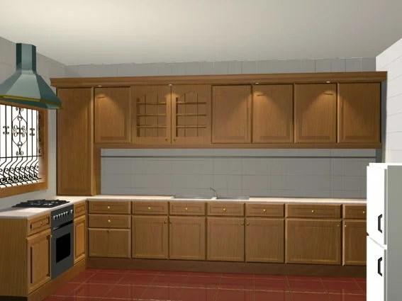 L Shape Apartment Kitchen Design Free 3ds Max Model - .3ds ...