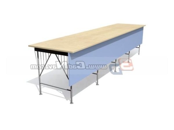 Pleasant Office Furniture Work Bench Free 3Ds Max Model 3Ds Max Evergreenethics Interior Chair Design Evergreenethicsorg