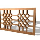 Oriental Wood Lattice Panel