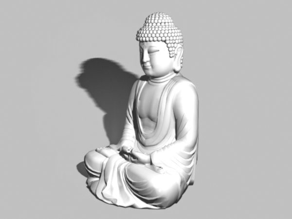 Asiático Sentado Estatua Buda Jardín