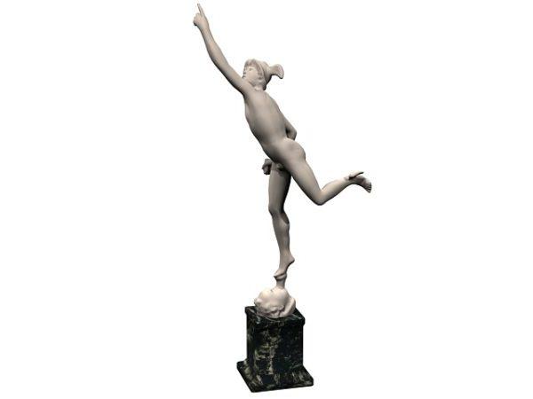 Stone Statue Of Mercury