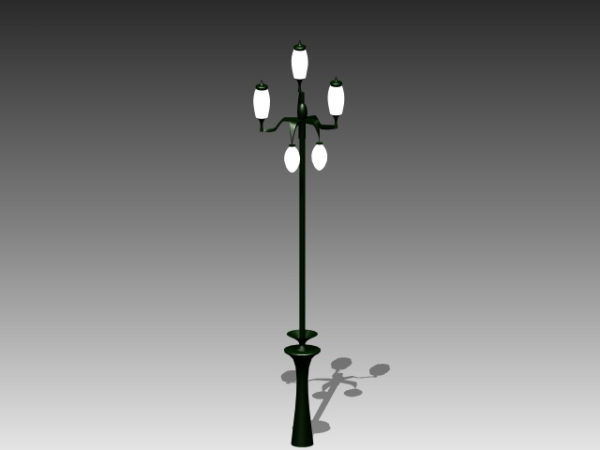 City Street Light With Lamps