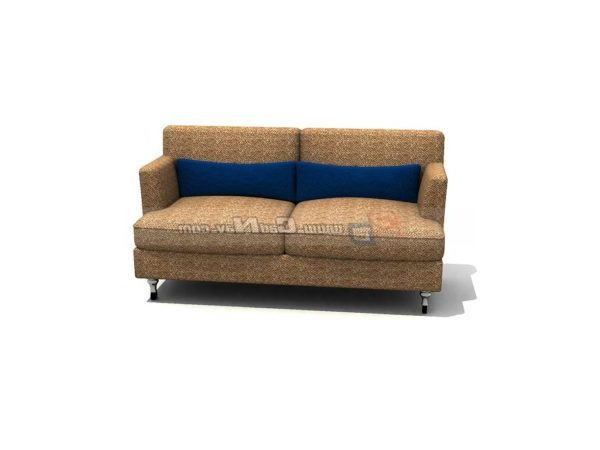 Enjoyable Two Seats Couch Sofa Furniture Free 3Ds Max Model 3Ds Inzonedesignstudio Interior Chair Design Inzonedesignstudiocom