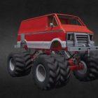 Sci-fi Monster Truck Design