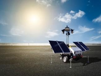 Morris site machinery solar power