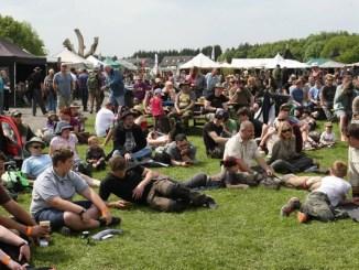 Crowd at Bush Craft festival