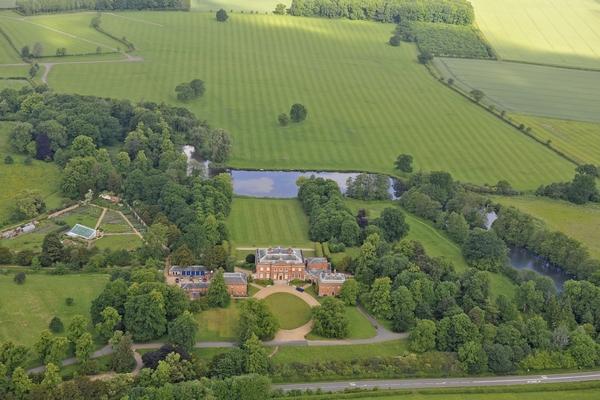 Aerial shot of Kelmarsh