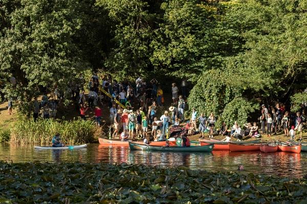 Kayaking on the river at Gladstone estate