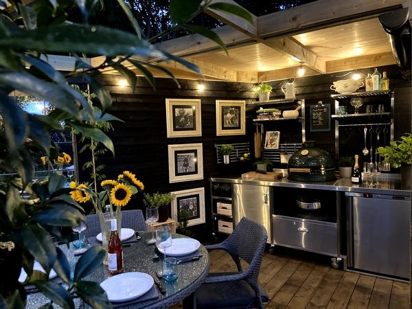 Interior of garden kitchen