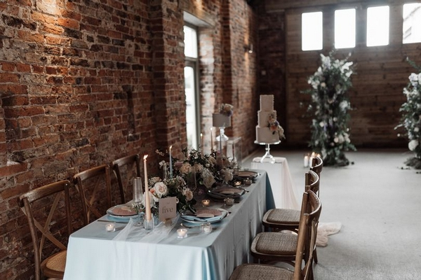 Sedgewell Barn interior decorated for event