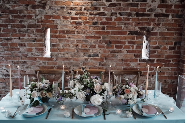 Sedgewell Barn table setting at event