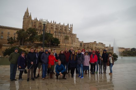 A group visits the city