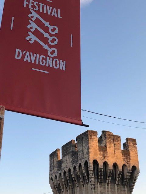 Avignon and festival banner
