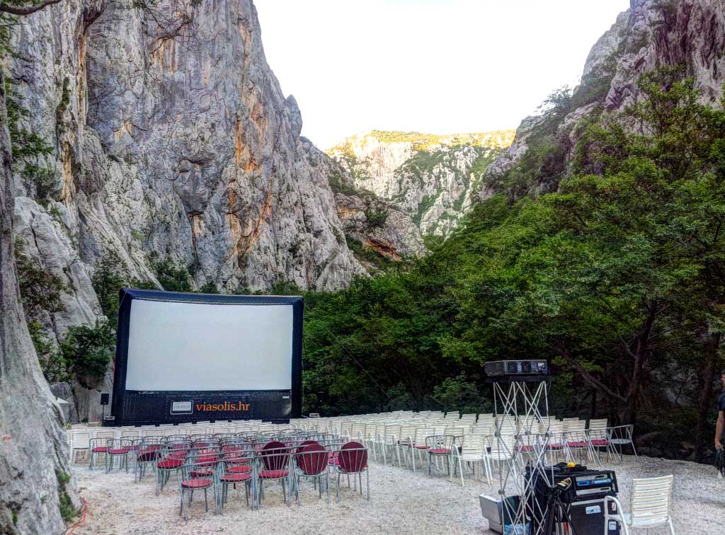 Film Festival with an inflatable screen in Croatia