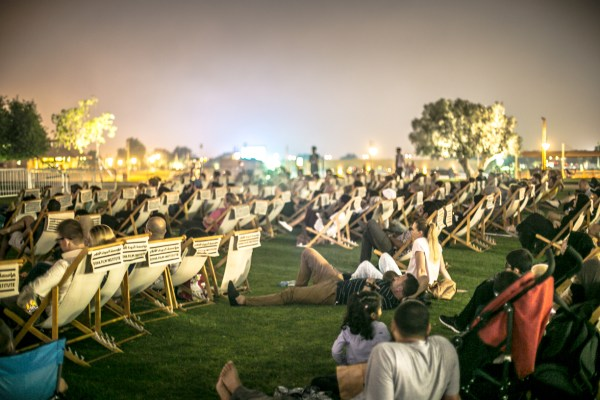 Open-Air-Kino in Katar