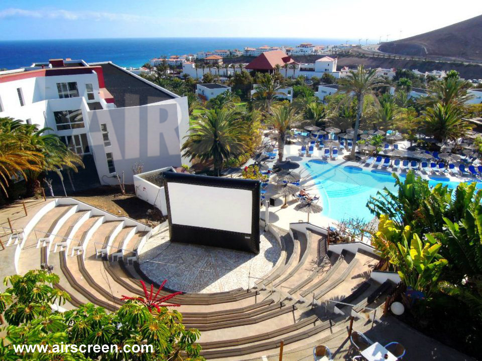 AIRSCREEN im Amphitheater auf Fuertaventura