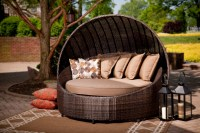 Modern Patio Round Bed  Turns Simple Outdoor Space into ...